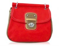 2 TONE SMALL MESSENGER WITH A TURN LOCK