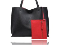 Large reversible flat tote