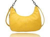 Small banana shaped  Hobo with a side zipper