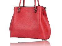 Medium satchel with 3 compartments and long shoulder strap