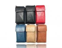 1 pack of 6 small wristlet/wallet with phone holder and long shoulder strap. assorted colors