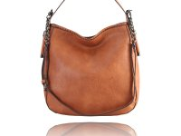 Medium square hobo with a long metal chain strap-Available in 5 colors